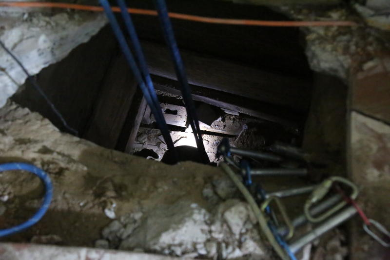 A team of specially trained agents were called in to excavate the tunnel found in San Luis.