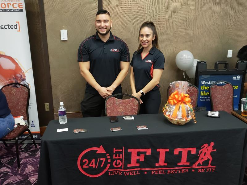 Michael Martinez, manager of 24/7 Get Fit in the Yuma Foothills and Alexandra Robles, manager of the Somerton location at the 7th Annual Somerton Business Expo 2018 at the Cocopah Casino.