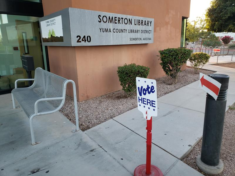 The Somerton Library was one polling place open on Election Day 2018.