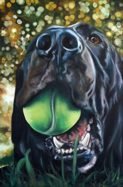 Roxy, oil painting by Jessie Marianiello