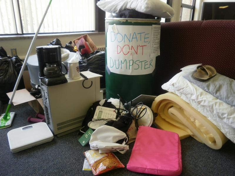 Donate, Don't Dumpster!