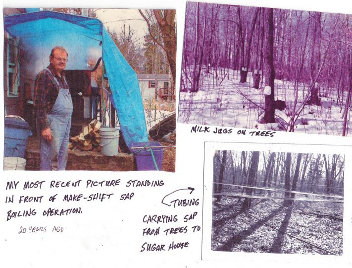 Jim Fruth's maple operation--20 years ago!