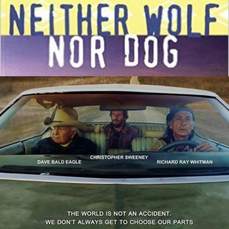 Neither Wolf nor Dog: A hybrid image blending the book cover and the movie poster