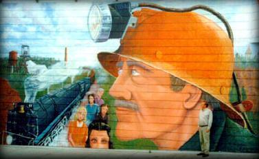 The End of an Era mural by William Defenbaugh