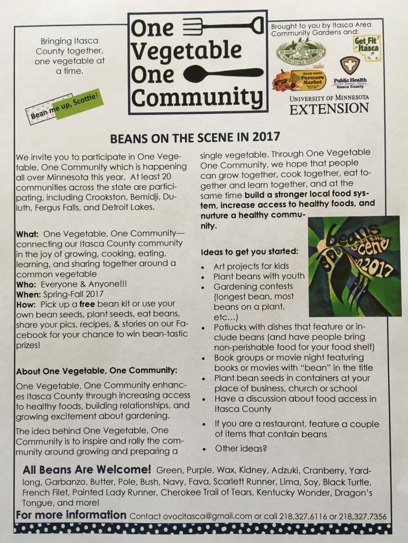 Itasca County: One Vegetable One Community = Beans (any!)