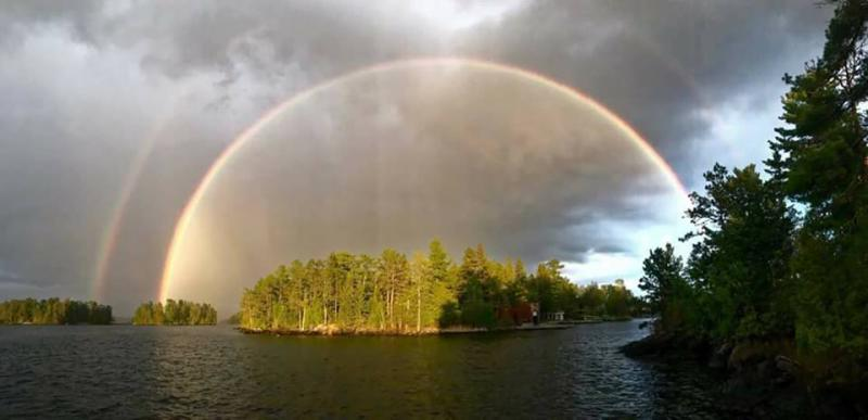 Double Rainbow at Voyageurs National Park