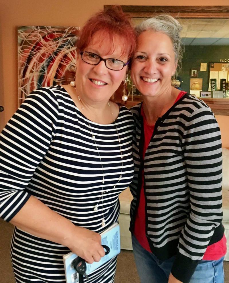 Twinning! Julie Kaiser and Katie Carter