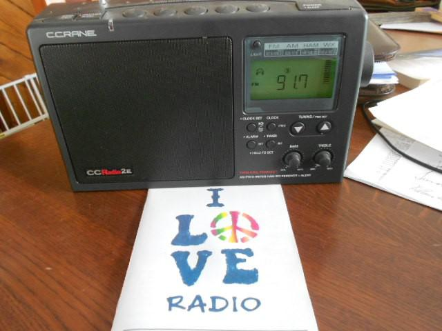 Tom sent us this photo of his radio!
