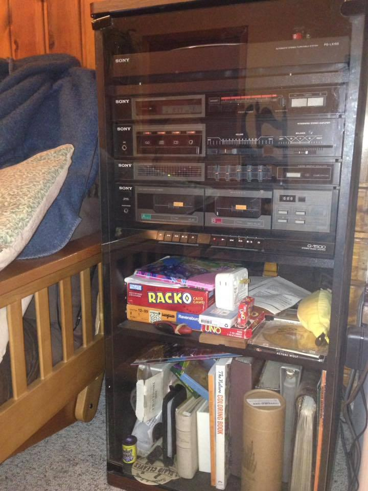 Carolin's radio: Tape decks no longer work. My uncle picked it up off the side off the road and fixed it.