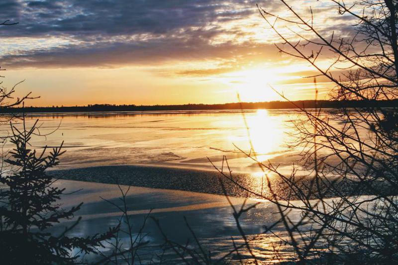 Ice on Lake Bemidji