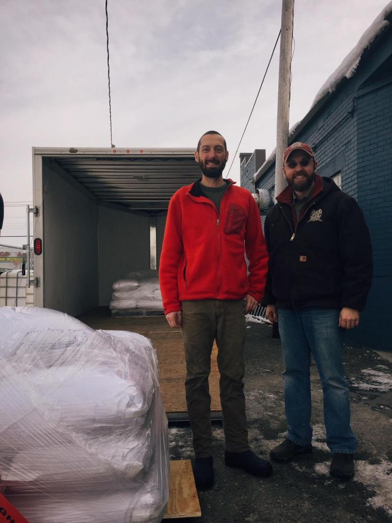 Bemidji Brewing Co-Founder & Head Brewer, Tom Hill, along with Adam Wagner, Co-Founder of Vertical Malt