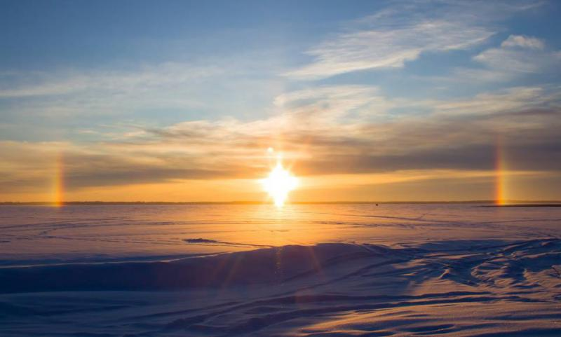 Sundogs over Lake Bemidji