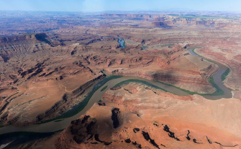 The northernmost boundary of the Bears Ears National Monument, along the Colorado River, in southeastern Utah is one of the national monuments to be reviewed by the Interior Department.