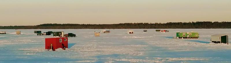 Ice Fishing on Lake Bemidji