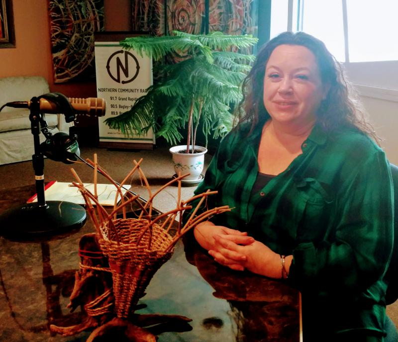 Shannon Lucas Westrum & one of her Driftwood Baskets