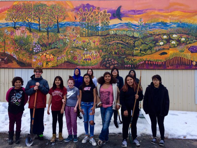 Food Shelf Volunteers from Voyageurs Expeditionary School
