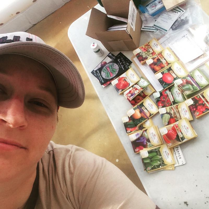 Urban Farm Manager Rachel Schaap with seeds