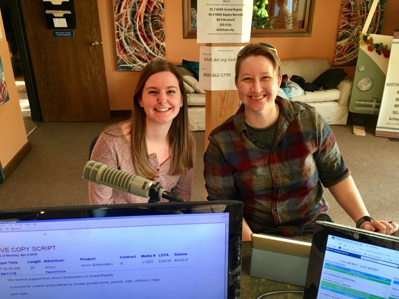 Emily Schaffer and Rachel Schaap from Bemidji Community Food Shelf