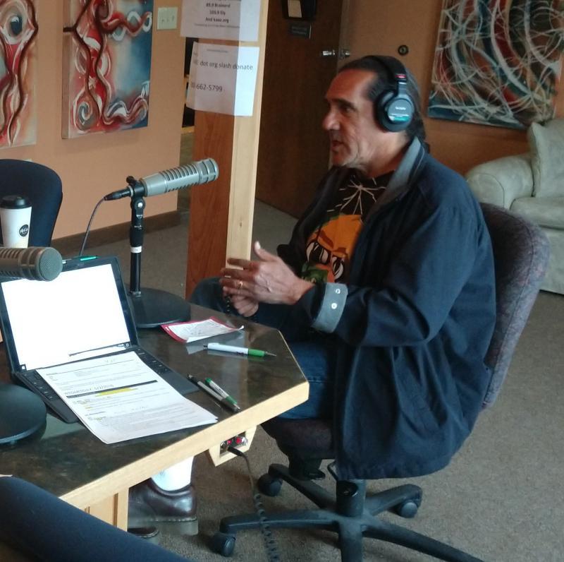 David Manuel at the KBXE studios