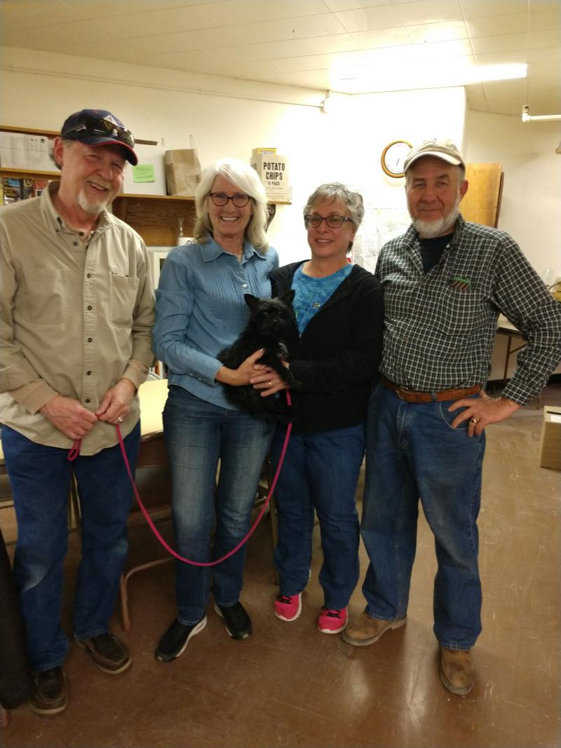 Tom and Sharon Smith, Lucy (the dog), Marcia and Ed Opatz
