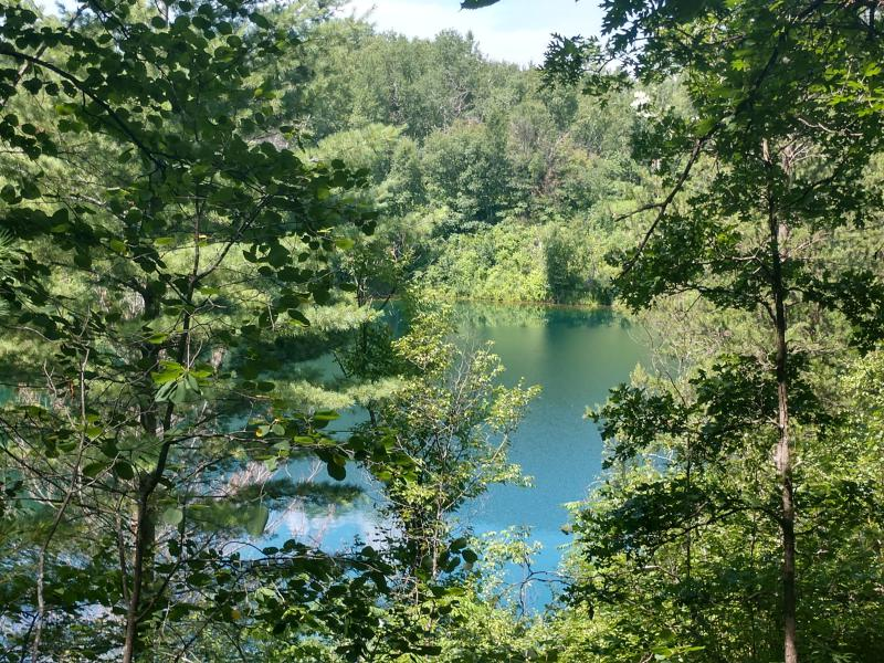and another gorgeous lake along the trails