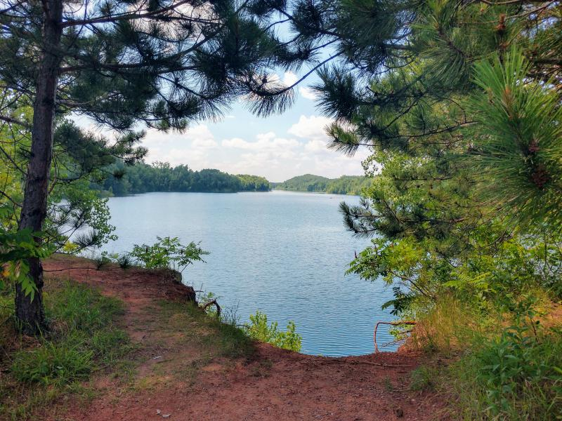 another gorgeous lake on the trails