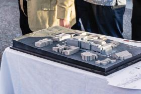 model of proposed Holman Hotel