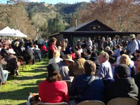 The dedication ceremony at Pinnacles National Park.