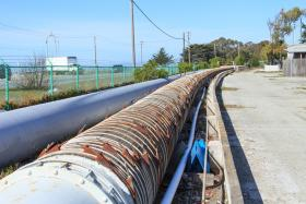 Existing pipeline on the site of the proposed People's Moss Landing Desalination Project