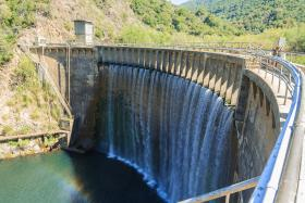 the San Clemente Dam in Carmel Valley