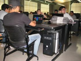 Students in the CSIT-in-3 program attend their first Computer Science class at Hartnell College.