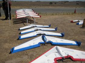 NPS UAVs used to test Swarm technology.