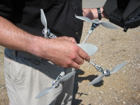 The Instant Eye is a small, lightweight UAV designed for soldiers to carry in their packs.