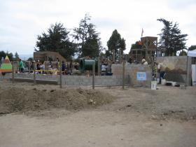Tatum's Garden, a fully inclusive playground, under construction at Sherwood Park in Salinas.