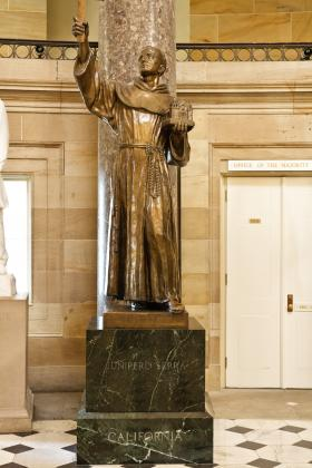 Statue of Fr. Serra in the National Statuary Hall of the US Capitol