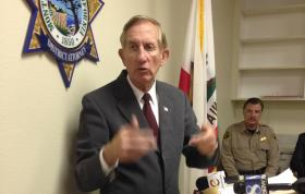 Monterey County District Attorney Dean D. Flippo announces the arrest of six members of the King City Police Department.
