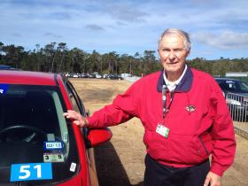 Ted Bell has been a volunteer driver at the AT&T Pebble Beach Pro-Am for 55 years.