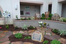 The Baker Butler Memorial Garden at the Santa Cruz Police Department.