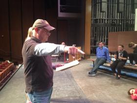Director Gary Bolen gives the cast of The 25th Annual Putnam County Spelling Bee his notes on their performance.