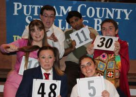 Part of the cast for Monterey Peninsula College's production of The 25th Annual Putnam County Spelling Bee.