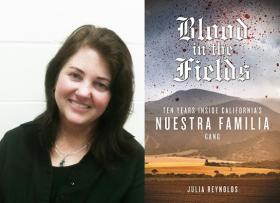 Journalist and author Julia Reynolds and her new book.