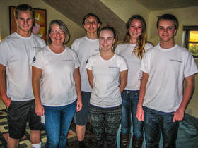 Team pHFine Scale (from left to right): Jack Maughan (17),  Lisa Walder (Project Manager), Benek Robertson (16), Bridgett Maughan (14), Caroline Maughan (18) and Ethan Kurteff (16)