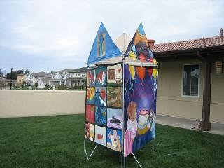 Canvas homes painted by local artists will go on display Sunday March 2nd.