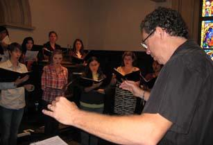 Youth Chorus director John Koza leads a rehearsal.