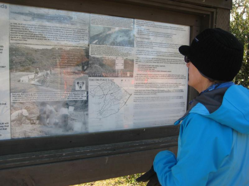 Henrietta Stern of FORT Friends looks at a map of the BLM public lands.