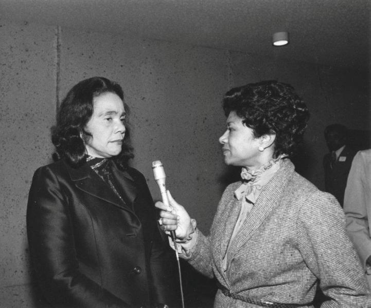 Belva Davis interviews Coretta Scott King