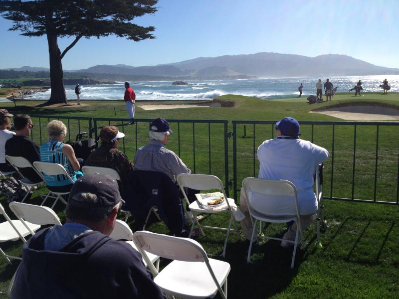 Special Needs viewing section at the 18th hole of the Pebble Beach Golf Links