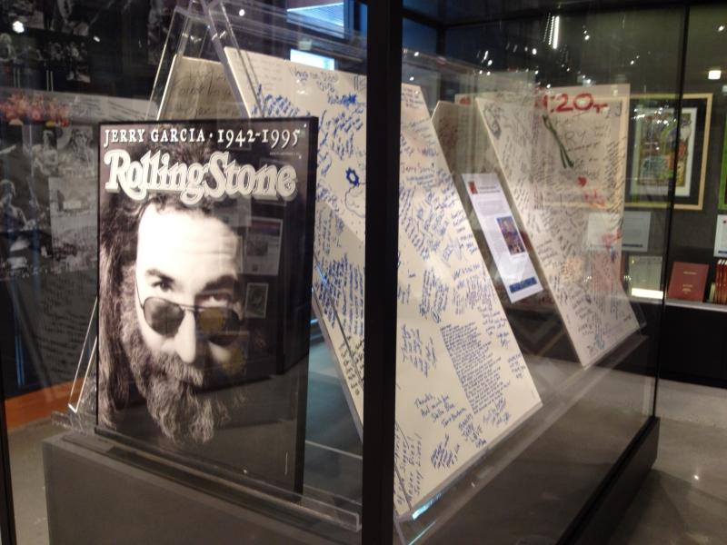 On display in Dead Central: part of the Jerry Garcia Memorial Altar