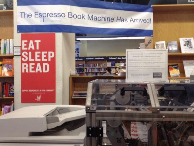 The Espresso Book Machine at Bookshop Santa Cruz