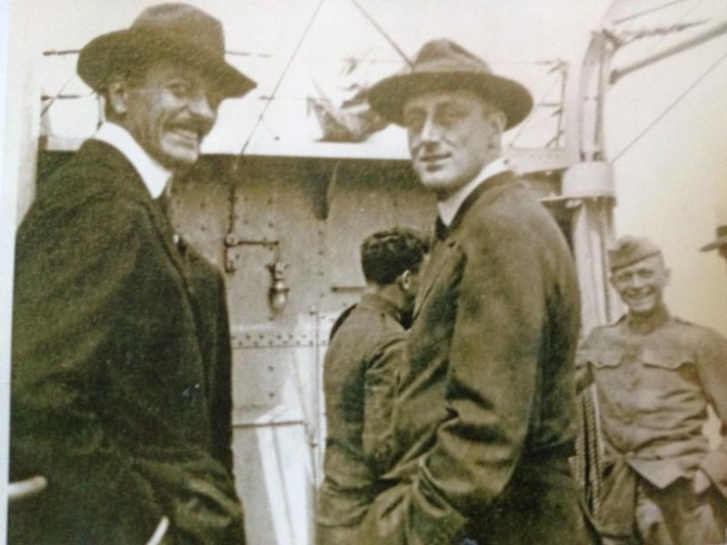 an undated photo of Lathrop Brown and Franklin Delano Roosevelt